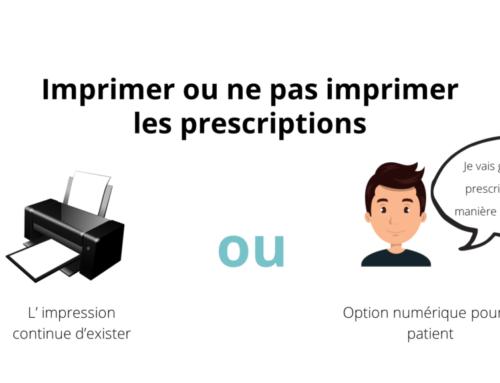 Dématérialisation de la prescription à partir du 15/09/2021